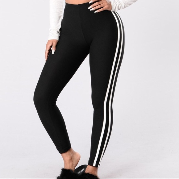 6cb3f0ebfbaa6 Fashion Nova Pants | Double Stripe Leggings | Poshmark